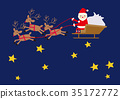 크리스마스 산타 클로스 일러스트 35172772