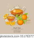 orange, illustration, tea 35176377