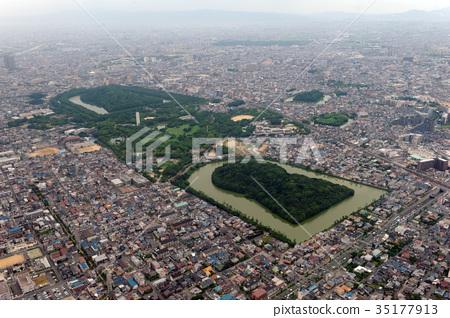 Aerial photograph of Emperor Nintoku 35177913