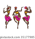 Dancing woman in ethnic style. 35177985