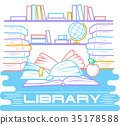 concept of education  library 35178588