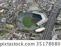 阪神甲子园体育场鸟瞰图 35178680