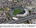 阪神甲子园体育场鸟瞰图 35178687