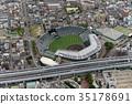 阪神甲子园体育场鸟瞰图 35178691
