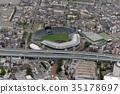 aerial view, aerial photograph, an aerial photograph 35178697