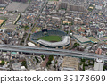 aerial view, aerial photograph, an aerial photograph 35178699