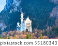 Famous bavaria landmark Neuschwanstein Castle in 35180343