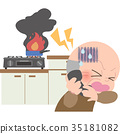 화재 신고를하는 할아버지 35181082