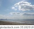 ท้องฟ้าเป็นสีฟ้า,ฤดูใบไม้ร่วง,หาดทราย 35182018
