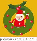 크리스마스 산타 클로스 클립 아트 35182713