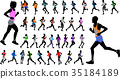 runners in color sportswear silhouettes collection 35184189