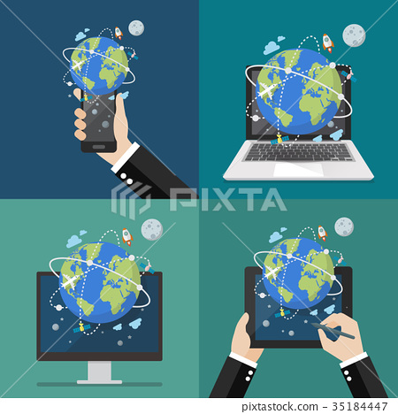 Global network connection technology 35184447