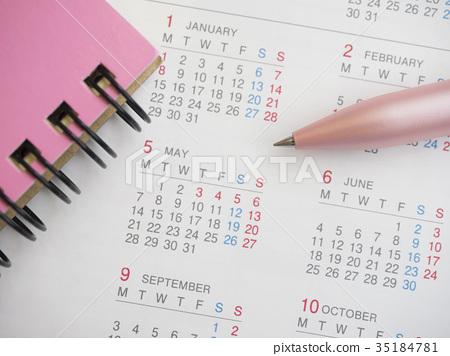 商業形象·日曆·記事本·女性·5月 35184781