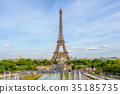 Eiffel Tower, the tallest structure in Paris 35185735