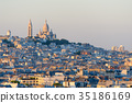 cityscape of paris by the sunset 35186169
