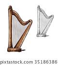 harp musical instrument 35186386
