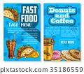 fast food menu 35186559