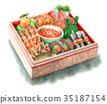 New Year dishes 35187154