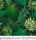 palm vector pattern 35187593