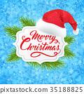 Christmas hat banner 35188825