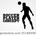 Soccer Football Player Concept Silhouette 35189499