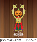vector Happy halloween creative hipster party 35190576