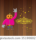 vector Happy halloween creative hipster party 35190602