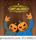 vector Happy halloween creative hipster party 35190621