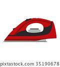 Iron ironing vector icon illustration clothes flat 35190678