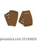Baseball glove vector illustration ball isolated 35190830