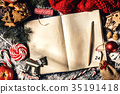Rustic composition of Christmas book 35191418