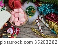 Celebrate Christmas decoration with marshmallow. 35203282