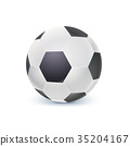 Detailed icon of ball for game in classic football 35204167