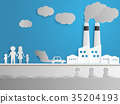 air and water pollution with factory 35204193