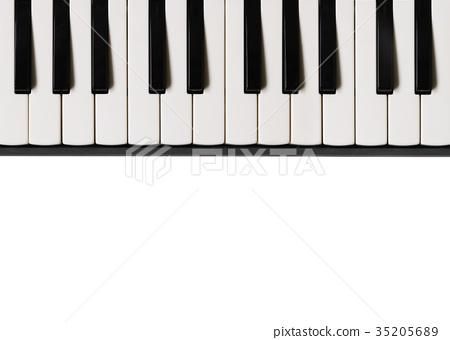 Piano keyboard. Musical flat background. 35205689