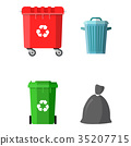 Can container, bag and bucket for garbage. 35207715