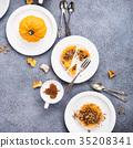 Pumpkin mini pie 35208341