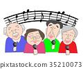 수석 렉 노래방 4 명의 남녀 35210073