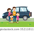 car and family portrait 35211011