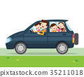 family car simplified illustration of a vehicle 35211018