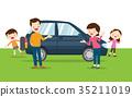 family happy a new car 35211019