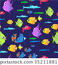 背景 卡通 鱼 35211881