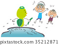 河童 儿童 孩子 35212871