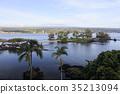 Mauna Kea seen from Hilo Bay 35213094