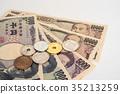 日元 现金 钞票 35213259