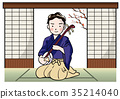 Man playing the shamisen 35214040