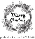 Wreath for Merry Christmas'day.  35214844