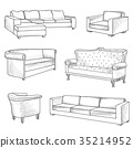 sofa, symbol, furniture 35214952