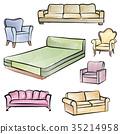 sofa, furniture, decorative 35214958
