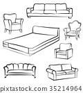 chair, vector, armchair 35214964
